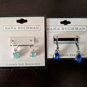 Dana Buchman dangle earrings (2 pairs)